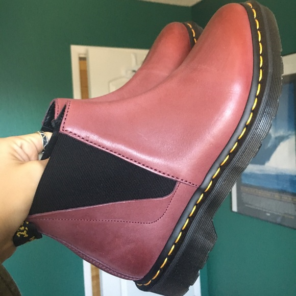 offer discounts many fashionable cute Dr. Martens Bianca Chelsea Boot- Wine Color